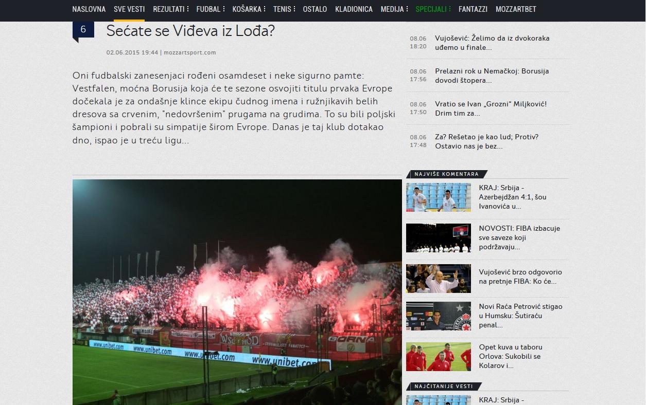 Widzew_Serbia_Artykuł