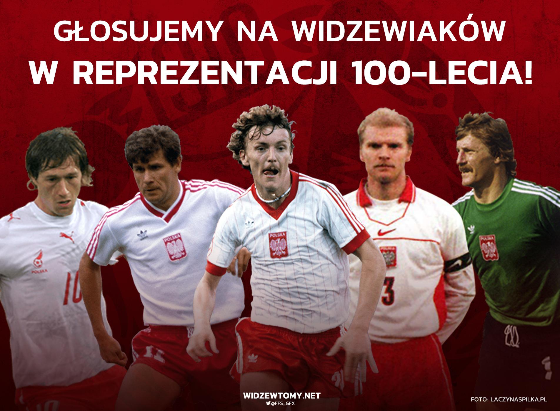 Piłkarze Widzewa wśród kandydatów do reprezentacji 100-lecia